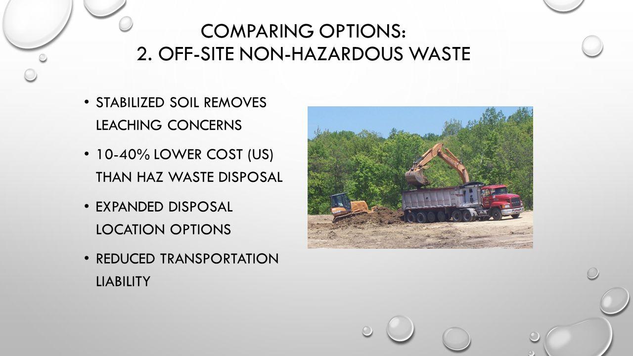COMPARING OPTIONS: 2.