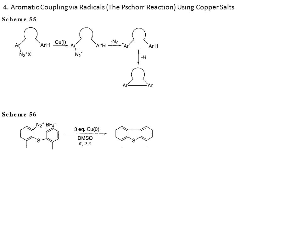 4. Aromatic Coupling via Radicals (The Pschorr Reaction) Using Copper Salts