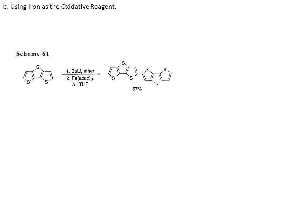 b. Using Iron as the Oxidative Reagent.