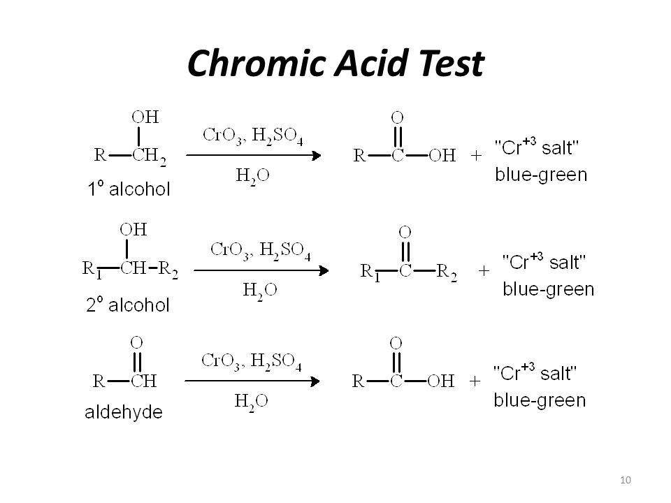 Iodoform test, C-16, p.590-1 Add 3 drops of unknown to 2 mL of water in a large test tube.
