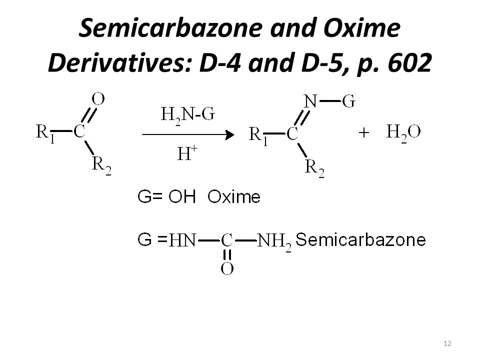 Semicarbazone and Oxime Derivatives: D-4 and D-5, p.