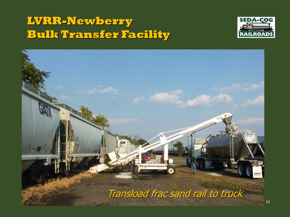 LVRR-Newberry Bulk Transfer Facility Transload frac sand rail to truck 11