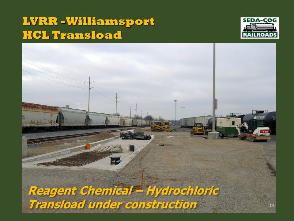 LVRR -Williamsport HCL Transload Reagent Chemical – Hydrochloric Transload under construction 14