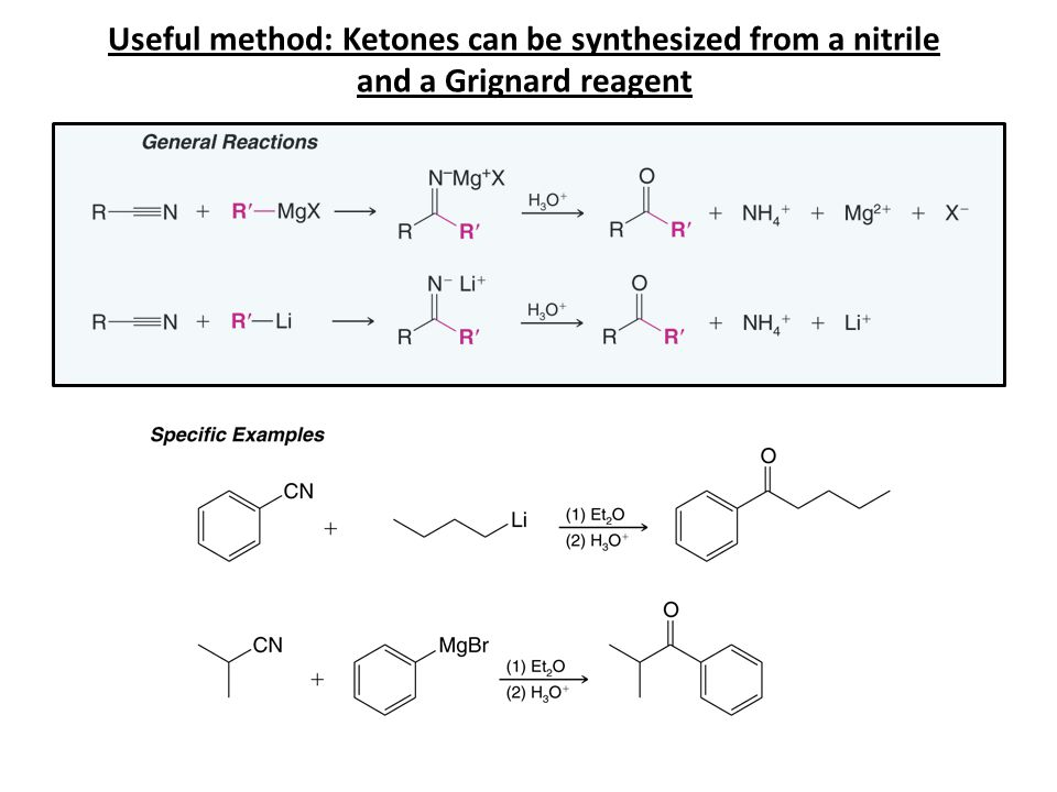 General Reaction of Aldehydes and Ketones Nucleophilic Addition to the Carbon of the C=O Mechanism for Addition of STRONG Nucleophiles