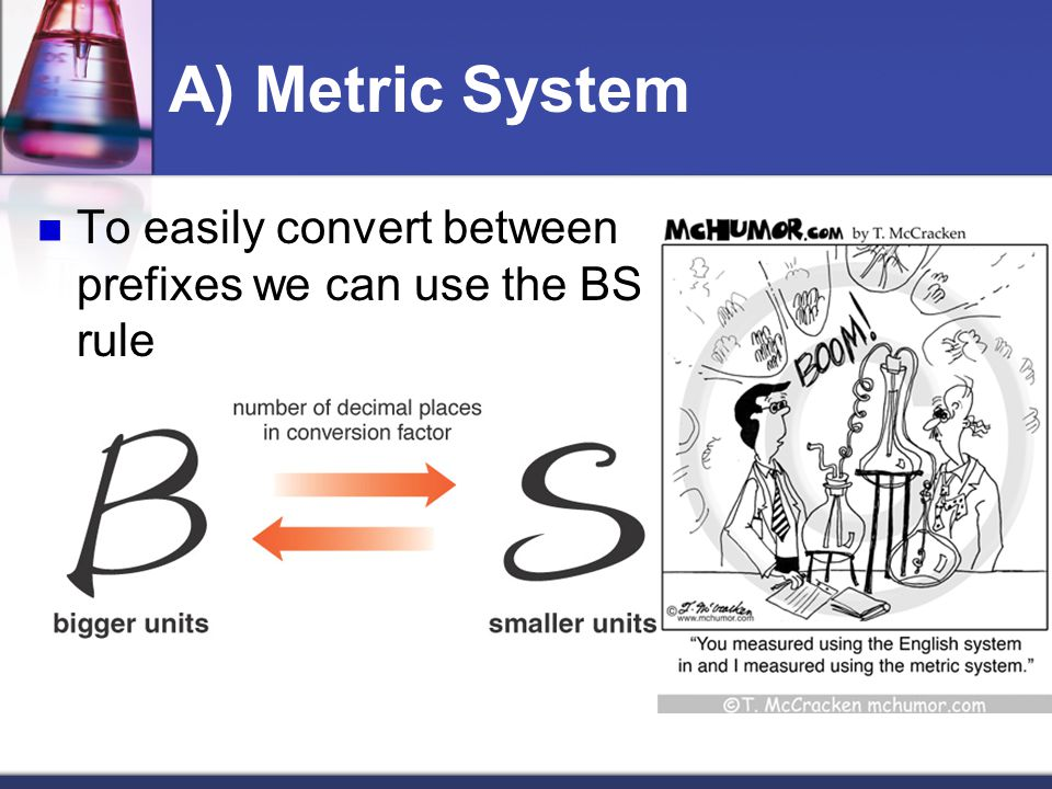 To easily convert between prefixes we can use the BS rule