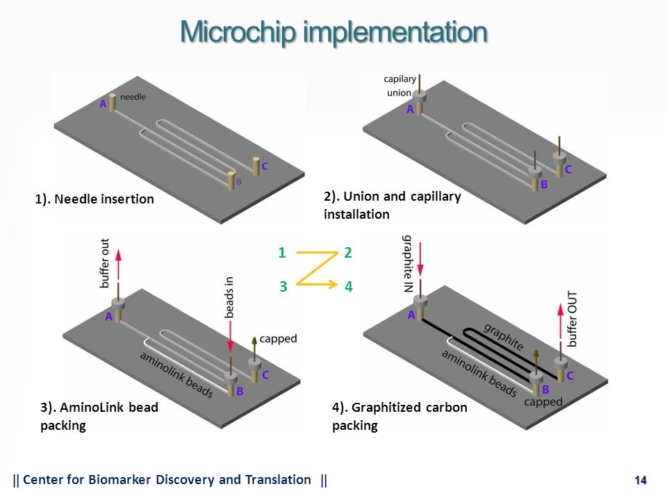 14  Center for Biomarker Discovery and Translation  14 Microchip implementation 1).