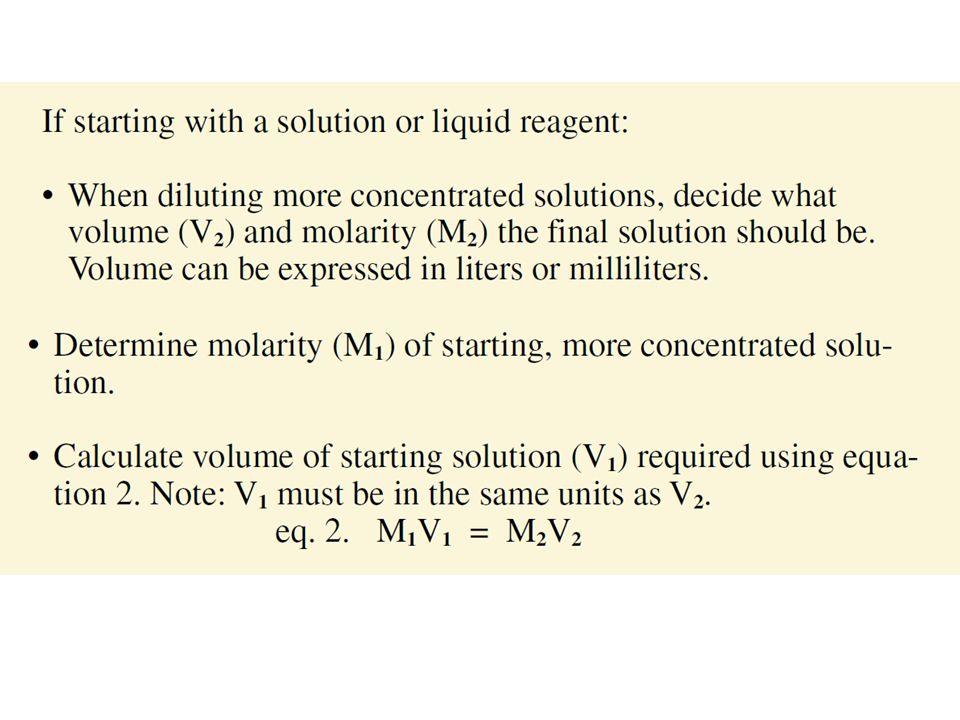Percent solution