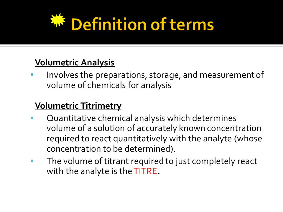 ♥ It Is A General Term For A Method In Quantitative Chemical