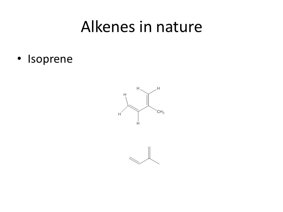 Alkenes in nature Isoprene