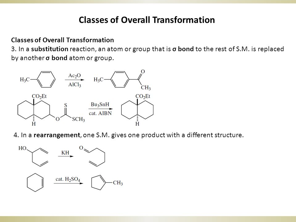Classes of Overall Transformation 3.