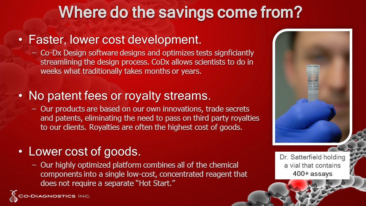 Faster, lower cost development.Faster, lower cost development.
