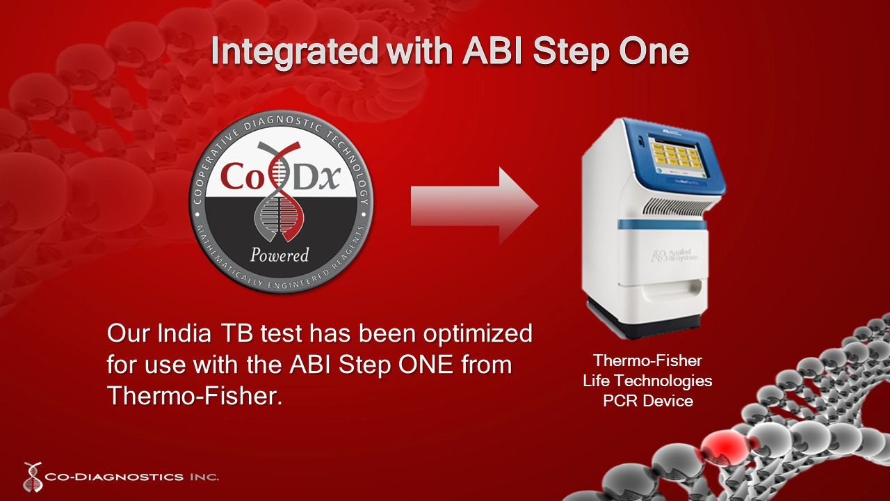 Our India TB test has been optimized for use with the ABI Step ONE from Thermo-Fisher.