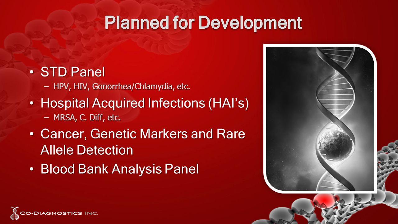 STD PanelSTD Panel –HPV, HIV, Gonorrhea/Chlamydia, etc.