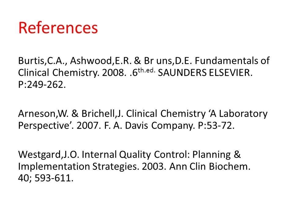 References Burtis,C.A., Ashwood,E.R. & Br uns,D.E.