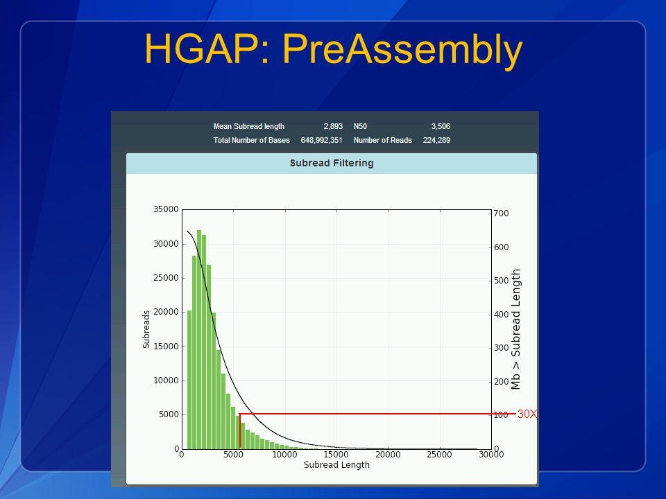 HGAP: PreAssembly 30X
