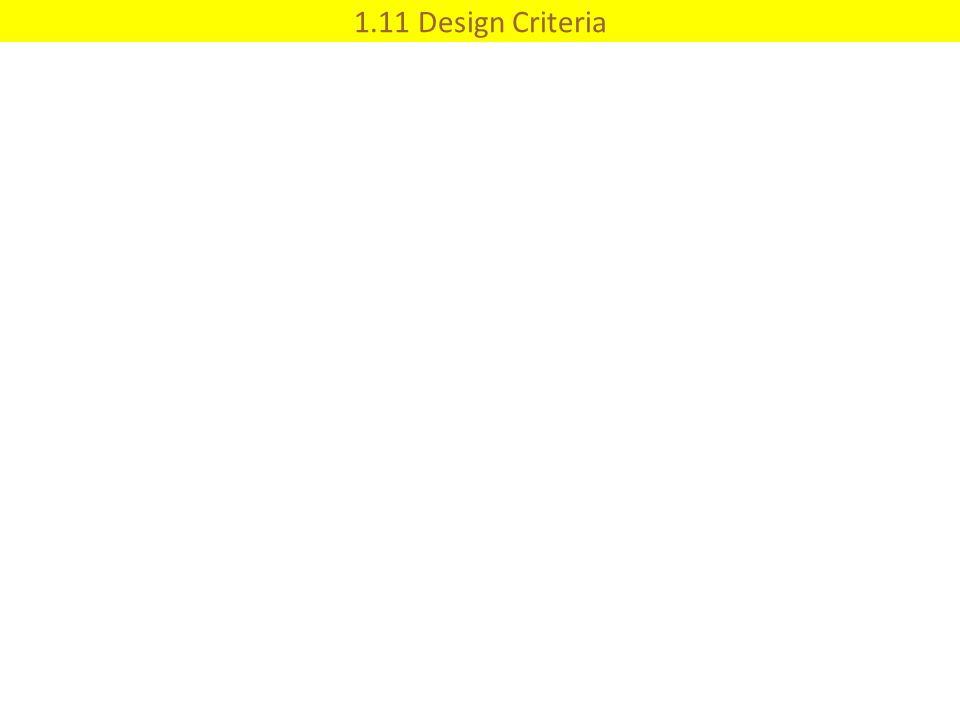 1.11 Design Criteria
