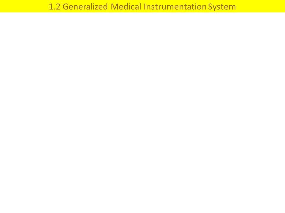 1.2 Generalized Medical Instrumentation System