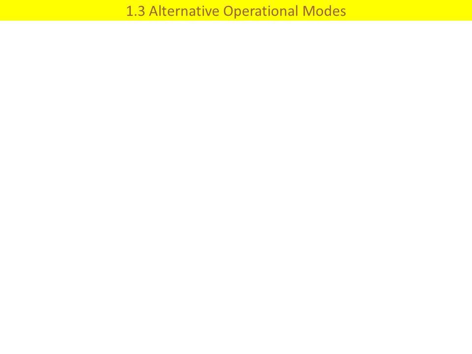 1.3 Alternative Operational Modes