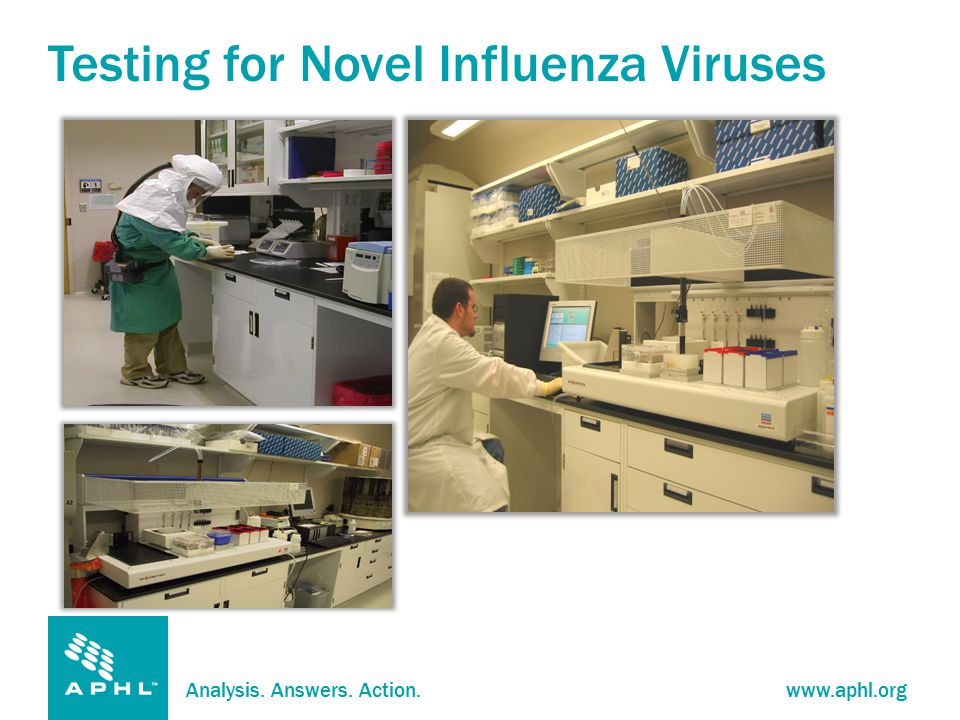 Analysis. Answers. Action.www.aphl.org Testing for Novel Influenza Viruses