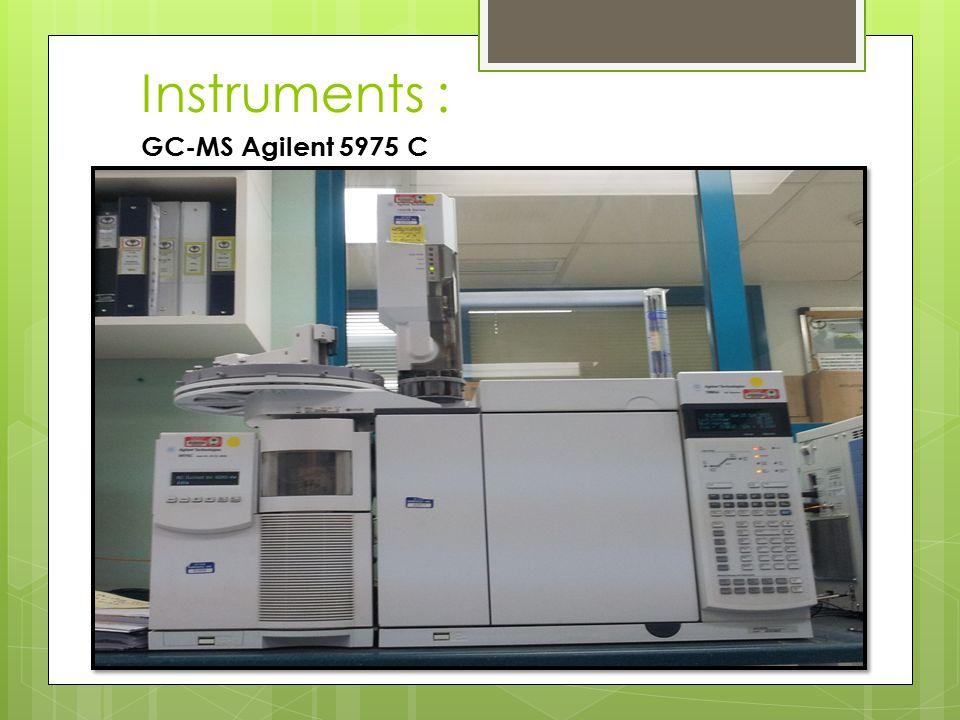 GC-MS Agilent 5975 C Instruments :
