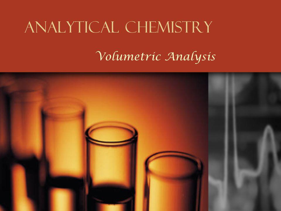 Analytical Chemistry Volumetric Analysis