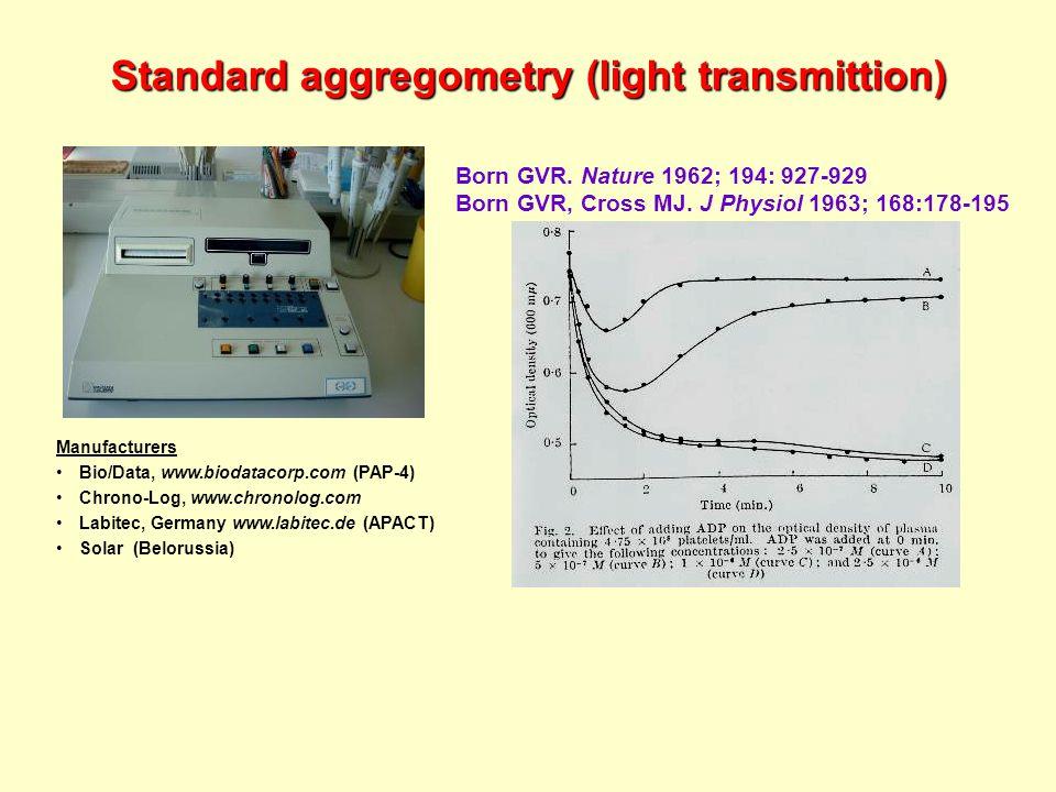 Standard aggregometry (light transmittion) Born GVR.