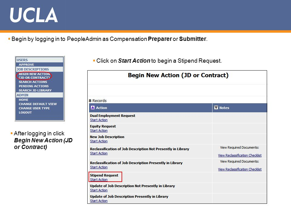  Begin by logging in to PeopleAdmin as Compensation Preparer or Submitter.
