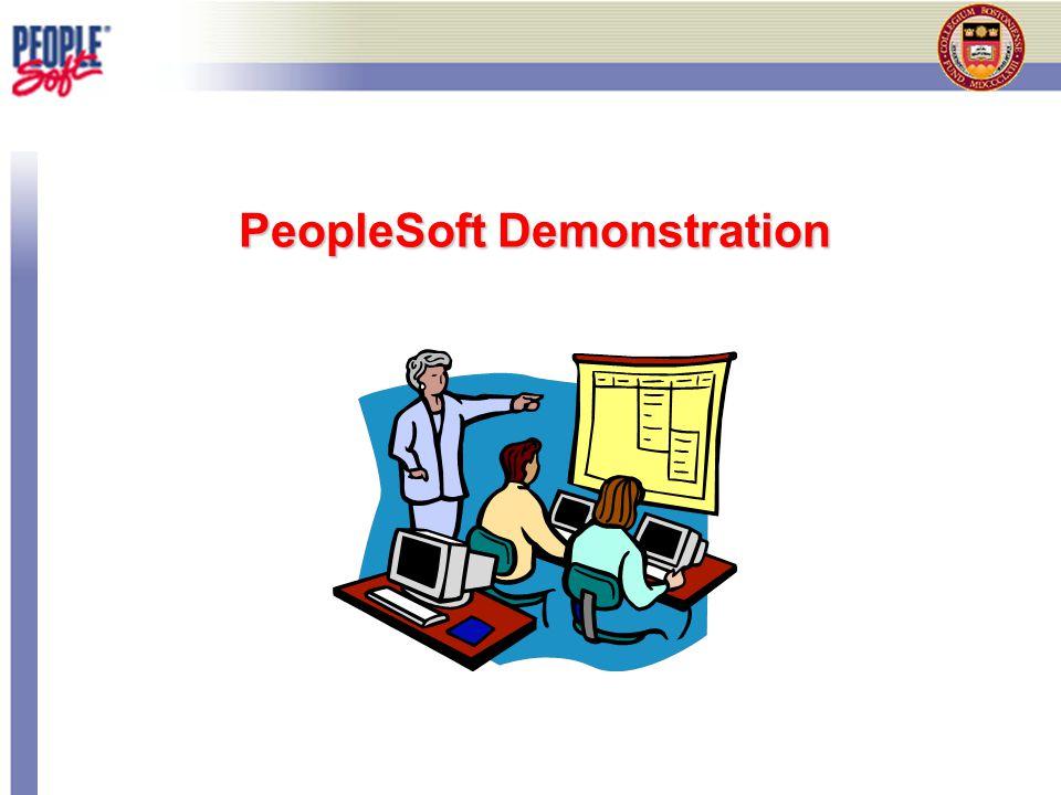 PeopleSoft Demonstration