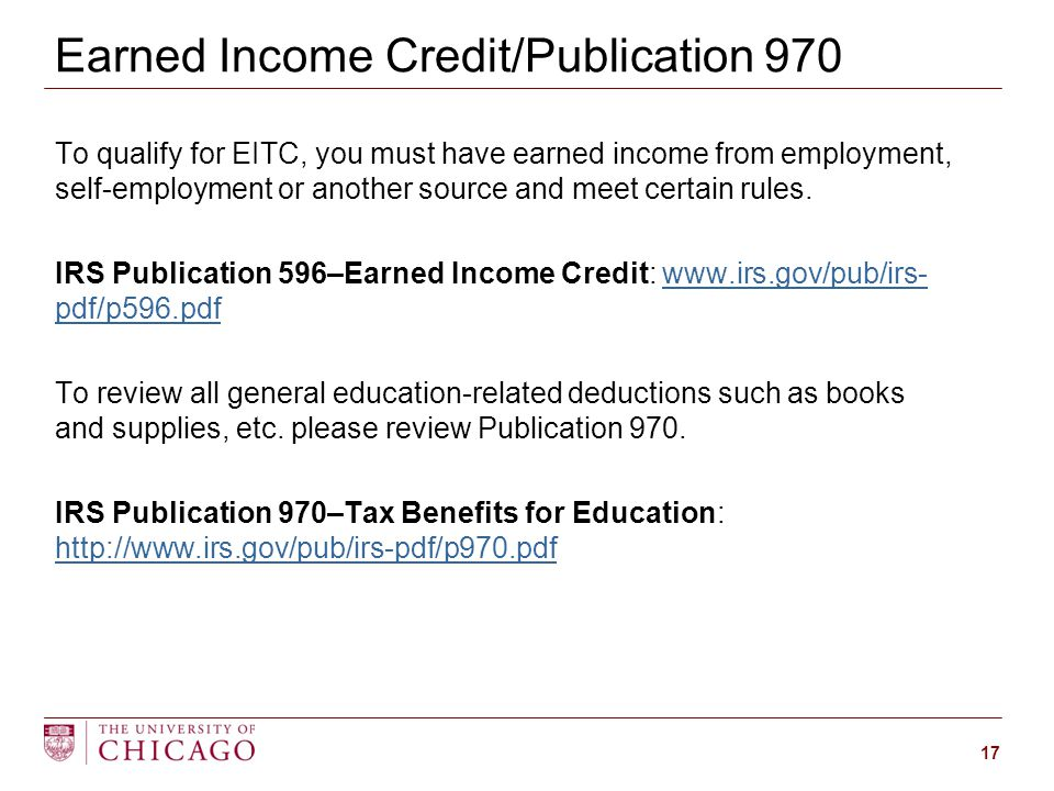 To qualify for EITC, you must have earned income from employment, self-employment or another source and meet certain rules.