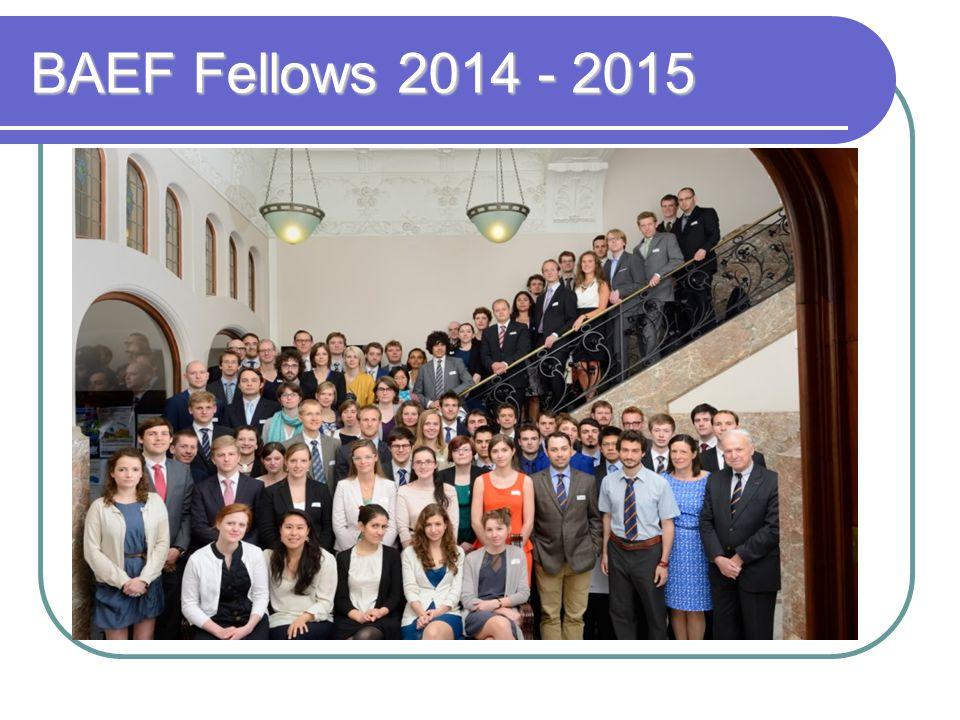 BAEF Fellows 2014 - 2015