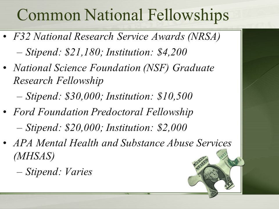 Other Sources NIH Diversity Supplements UC-MEXUS UC Pacific Rim Research Program Intramural Awards