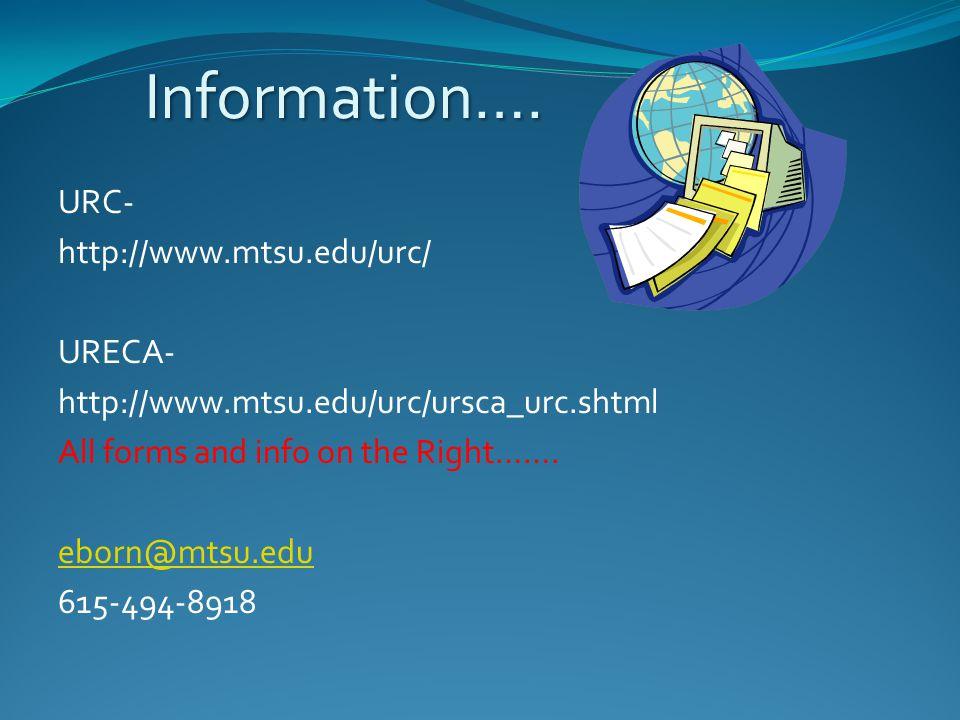Information….