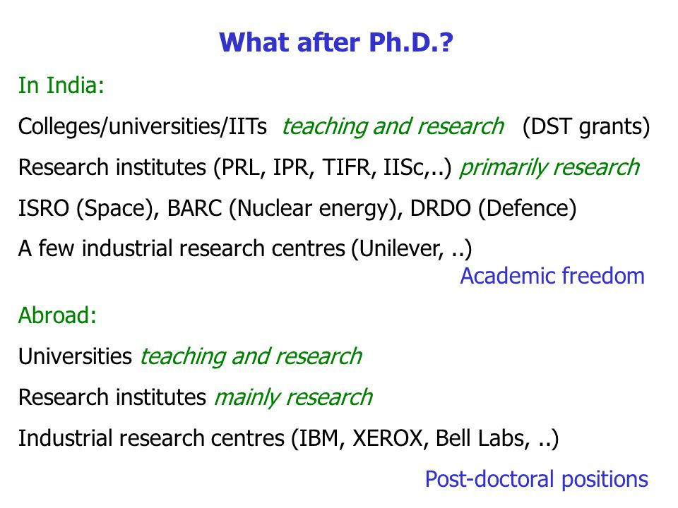 What after Ph.D..