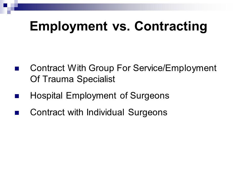 Employment vs.