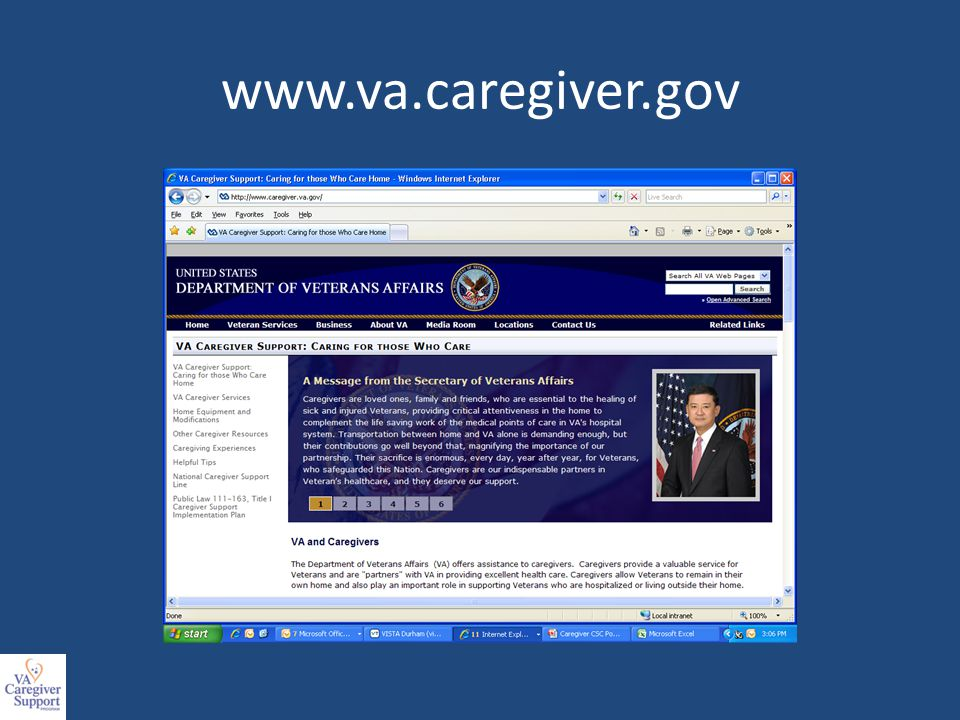 Challenges/Opportunities Challenges Identification and assessment of Veterans to determine eligibility Increased respite services, including 24 hour in home care Mental Health Services for caregivers (non-prescriptive care) Travel, Lodging and Per Diem-VA authorized to provide the expenses of travel, lodging and subsistence for the duration of medical exams, treatment or episodes of care (eligible veteran caregivers).
