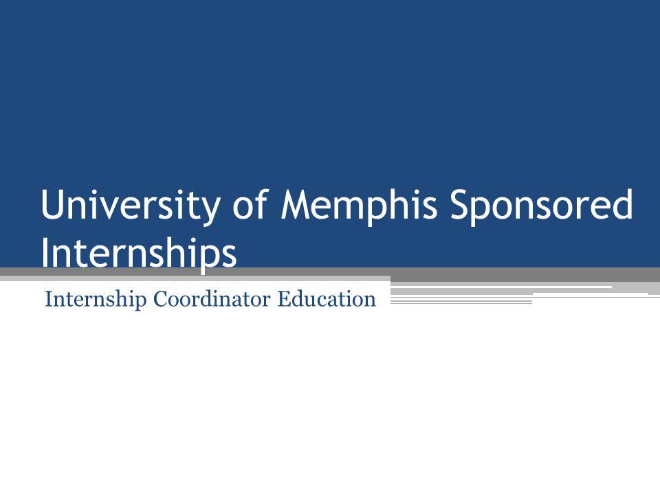 Grants Accounting Responsibility Set up the internship account.