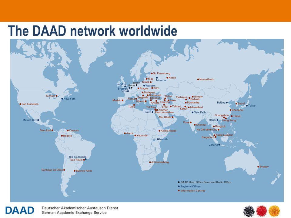 9 The DAAD network worldwide