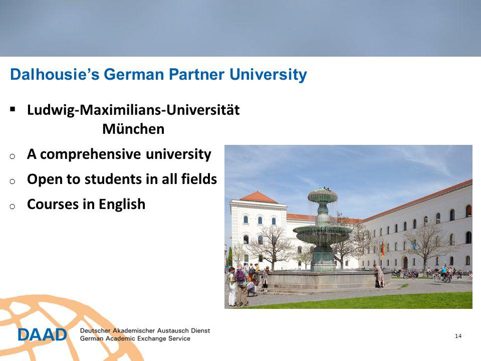 14 Dalhousie's German Partner University