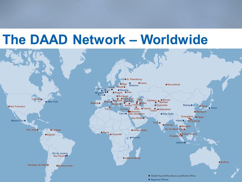 6 The DAAD Network – Worldwide