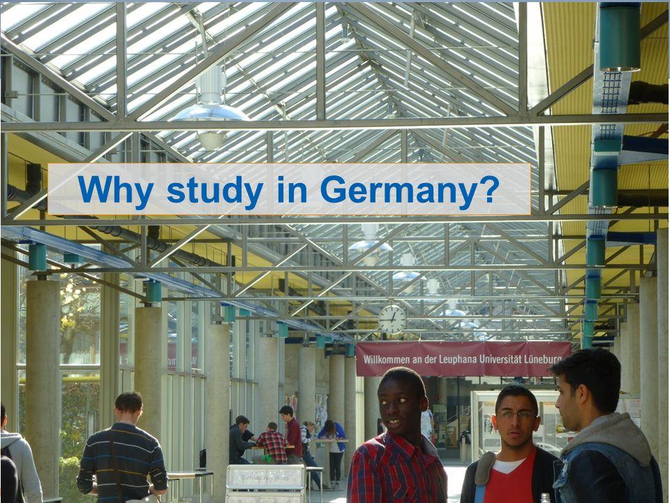 7 Repères et références statistiques sur les enseignements, la formation et la recherche (RERS 2012) Why study in Germany?
