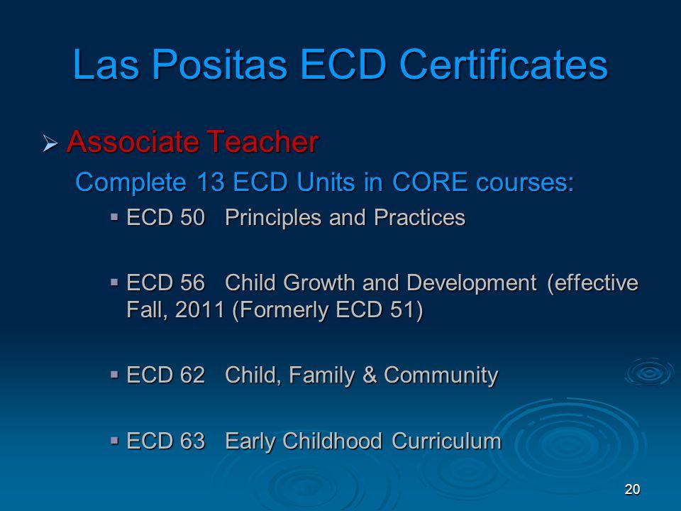 19 Las Positas ECD Certificates