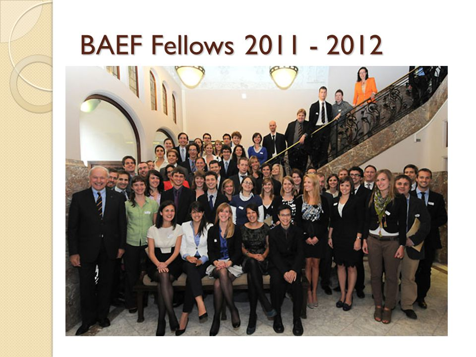 BAEF Fellows 2011 - 2012