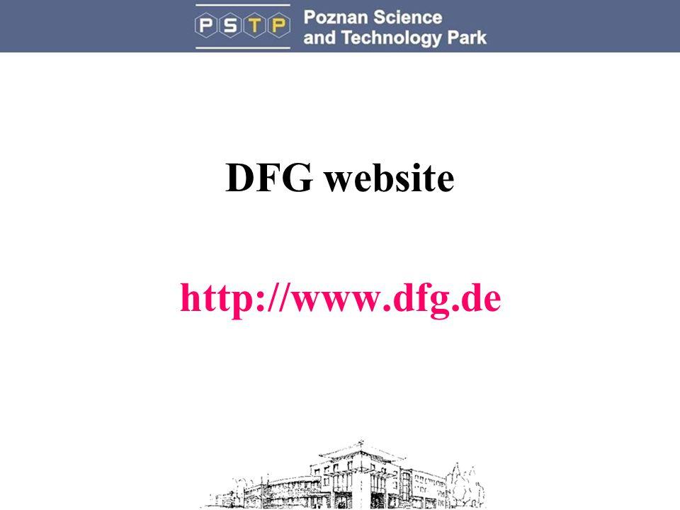 DFG website http://www.dfg.de