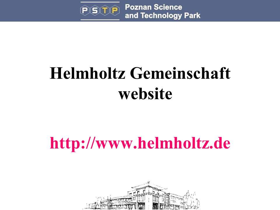 Helmholtz Gemeinschaft website http://www.helmholtz.de