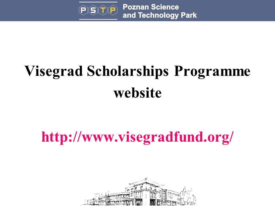 Visegrad Scholarships Programme website http://www.visegradfund.org/