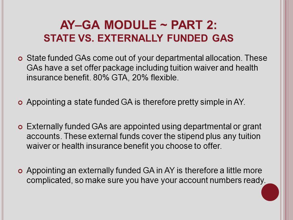 AY–GA MODULE ~ PART 2: STATE VS.