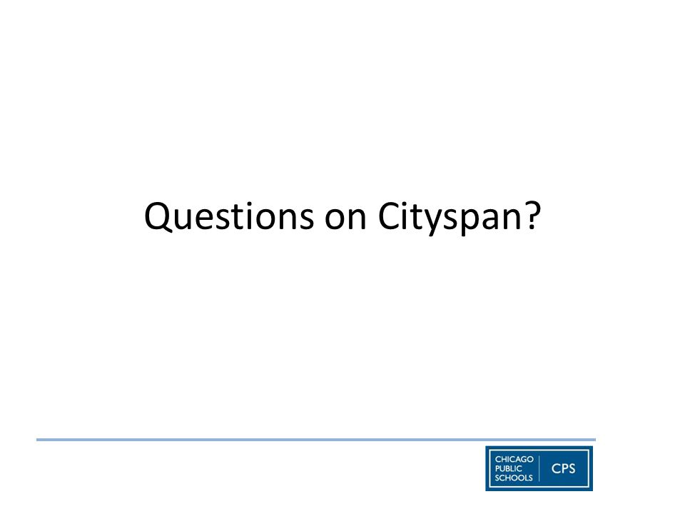 Questions on Cityspan