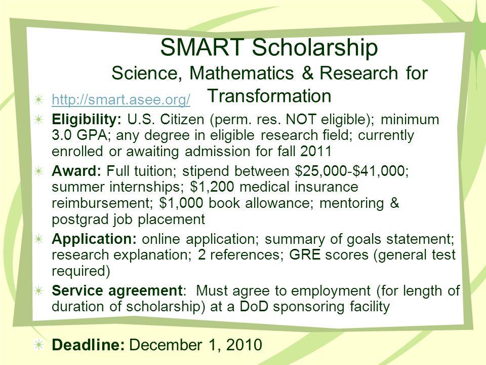Fulbright Grants, NSEP Boren Graduate Fellowships See Dr.
