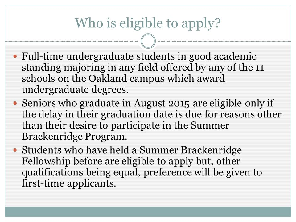 What do you need to do to apply.