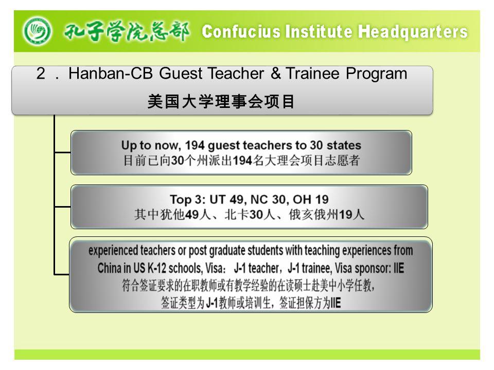 2. Hanban-CB Guest Teacher & Trainee Program 美国大学理事会项目